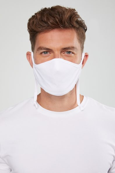 Sport Chic Jersey mask with drawstring adjustment