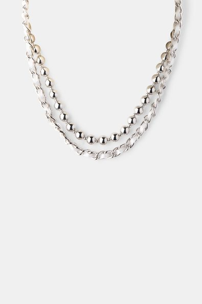 Double row necklace