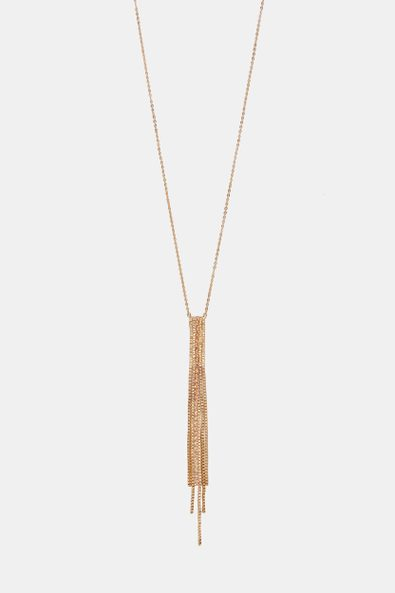 Long necklace with chain pendant