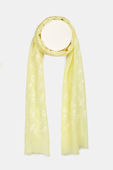Scarf with floral details