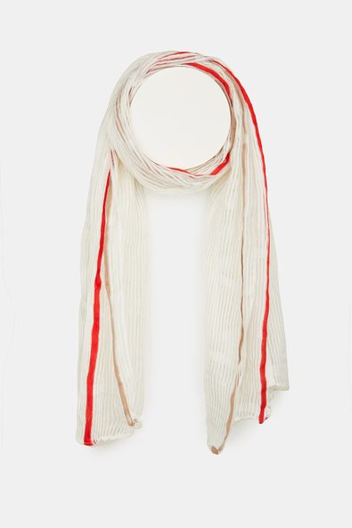 Translucent stripe scarf