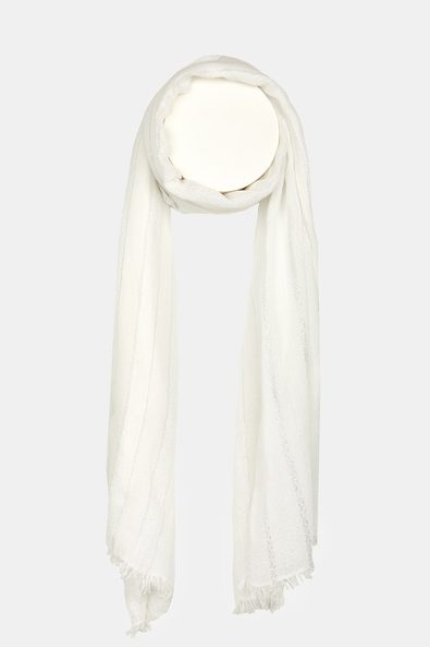 Scarf with metallic accents