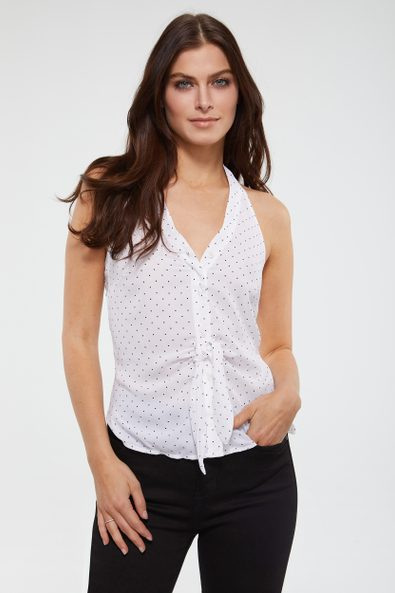 Halter knoted top
