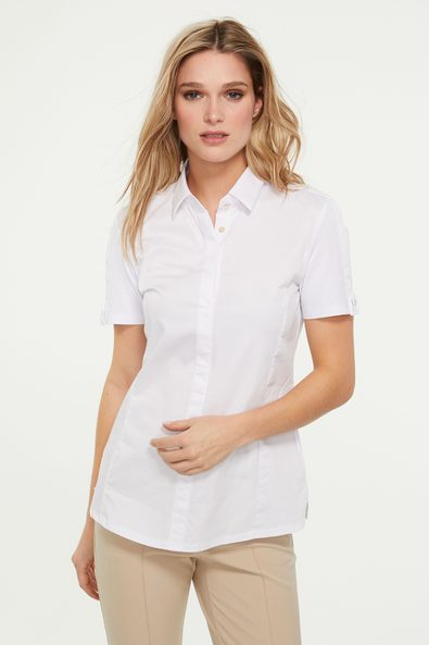 Poplin & jersey short sleeve shirt