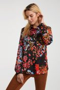Semi-fitted shirt with colourful print