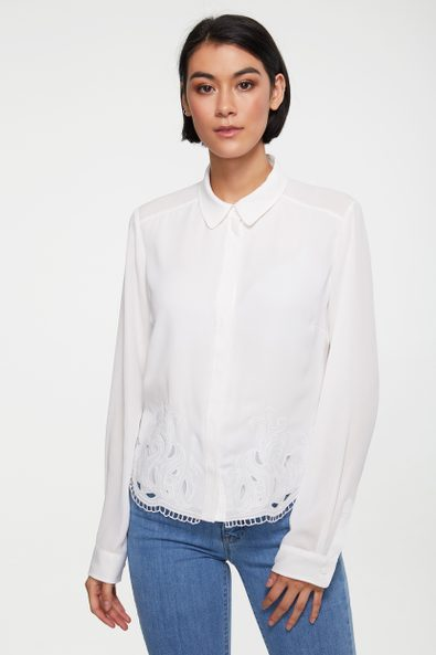 Embroidered fluid shirt