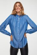 Puffy sleeve blouse with detailed cuff
