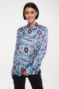 Printed shirt with shirring