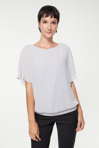 Oversized top with jersey lining