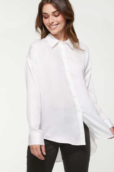 Oversized blouse with long back