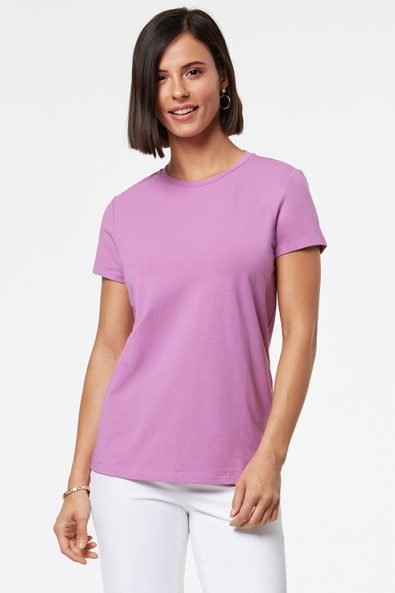 Basic crew neck fitted t-shirt