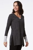 Striped 2 in 1 t-shirt with buttons
