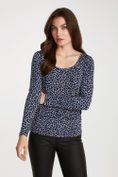 Animal print round neck top
