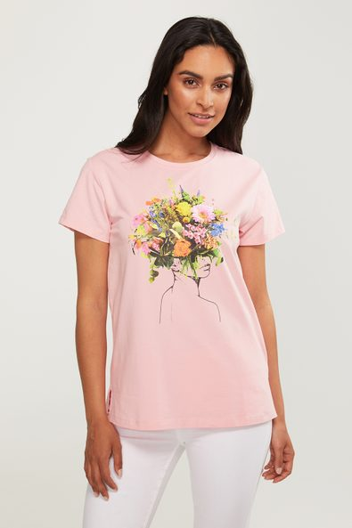 Bouquet lady t-shirt