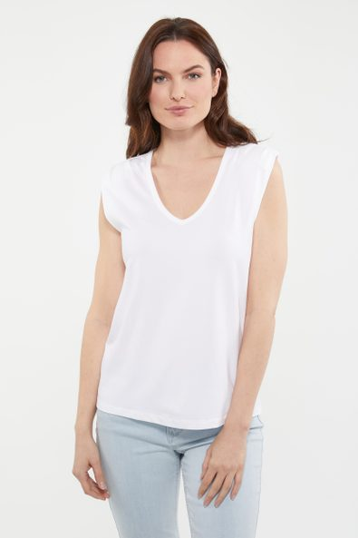Sleeveless jersey top with sho