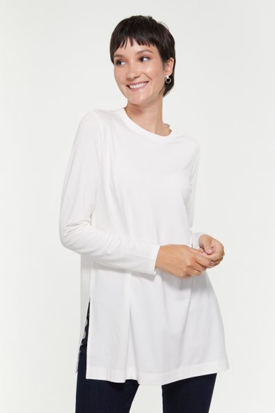 Long top with side slit
