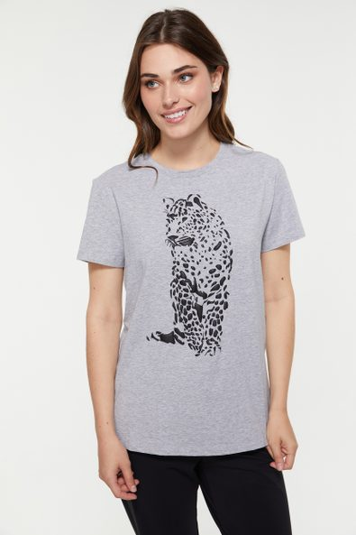 Comfort fit t-shirt with raise