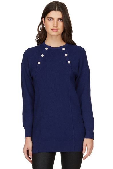 Long sweater with front buttons