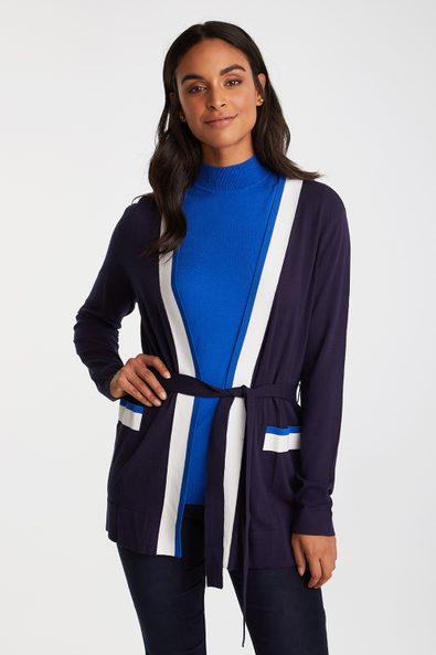 Cardigan with contrast detail