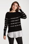 2 in 1 sweater with sequin stripe
