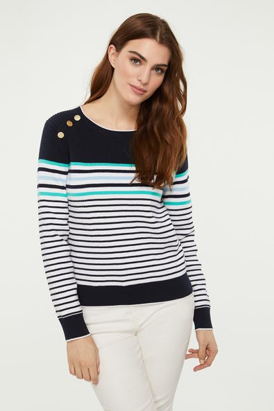 Sailor sweater with buttons