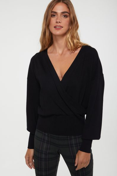 Front crossed top