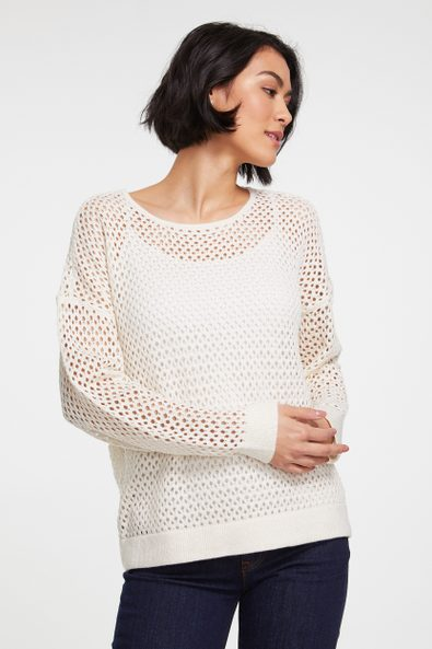 Fancy stitch lurex sweater