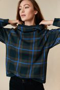 Plaid hooded sweater