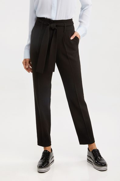 High waist pant with sash