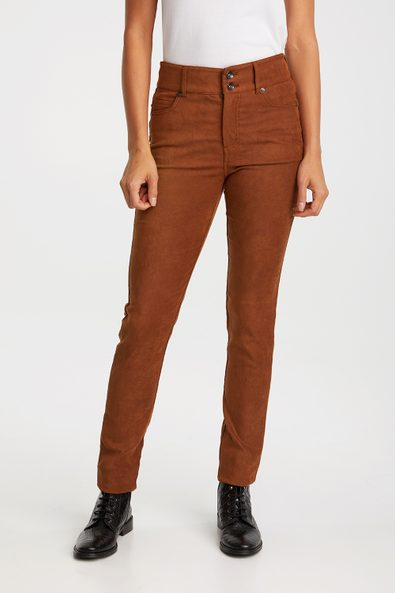Push up suede effect slim pant