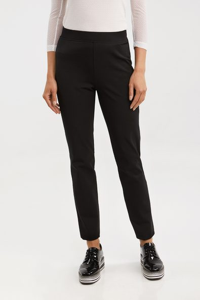 Elastic waist fitted pant