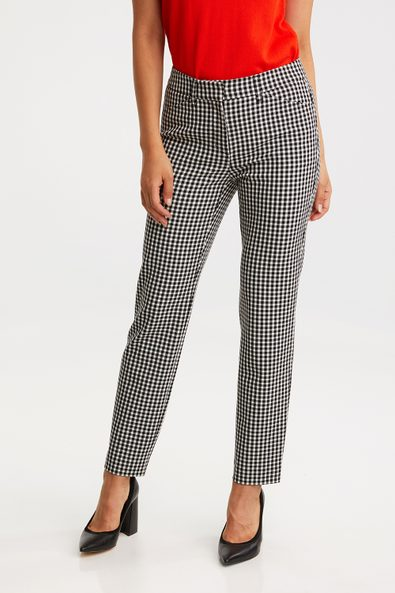 Gingham urban fit pant with cuff