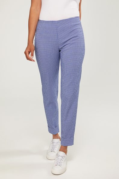 Gingham Vogue slim pant with cuff