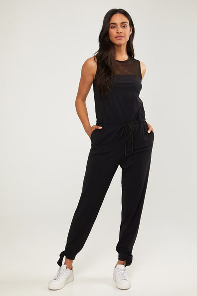 Jumpsuit with mesh
