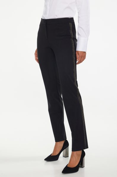 Slim SPORT CHIC pant with side ribbon