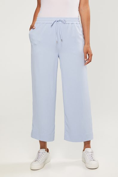 Wide leg fluid crop pant