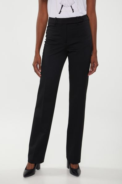 High waist basic straight pant