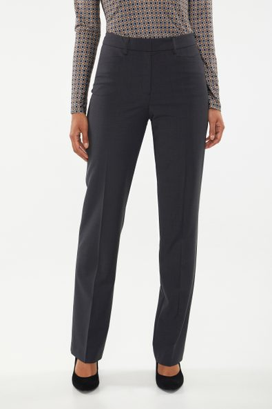 High waist wool blend pant