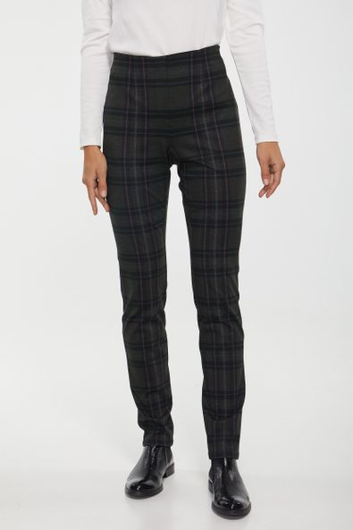 High waist plaid legging