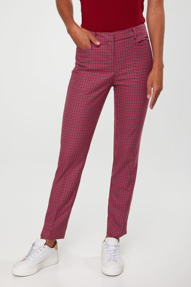 Colorful houndstooth Urban crop pant
