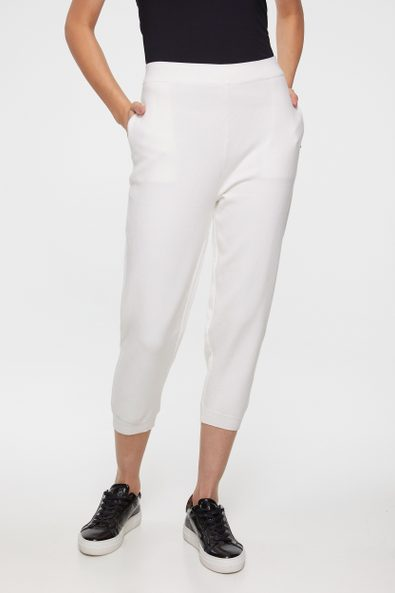 Knitted cropped pant