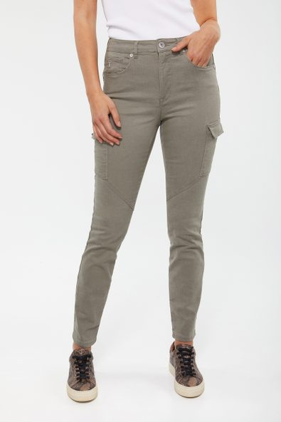 Push up pant with cargo pockets