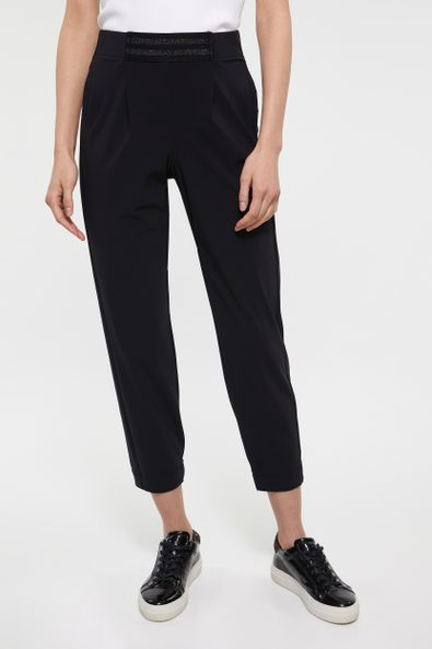 CASUAL SPORT CHIC PANT WITH FRONT PLEATS