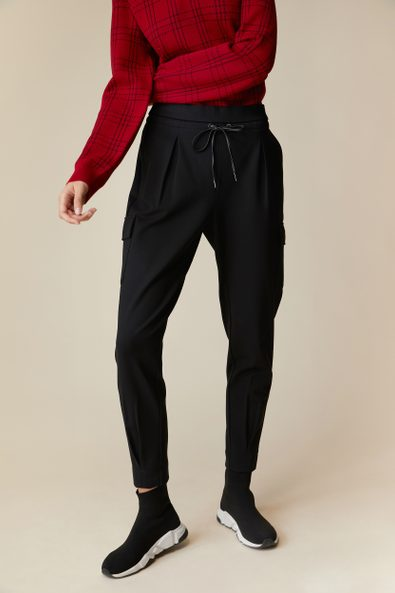 Casual ponte pant with cargo pockets