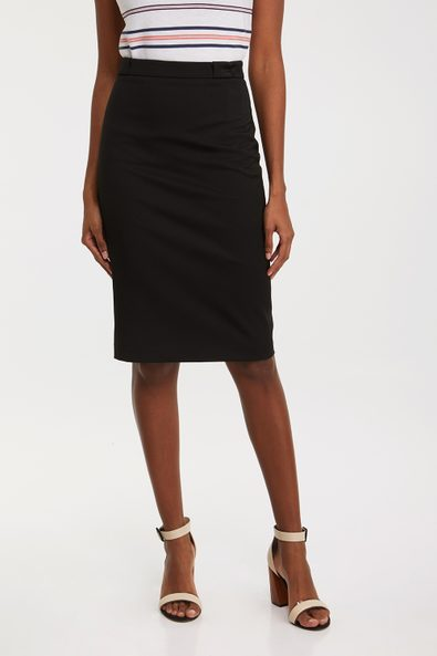 High waist skirt with special belt loop