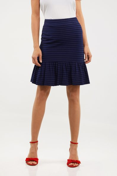 Reversible skirt with frill