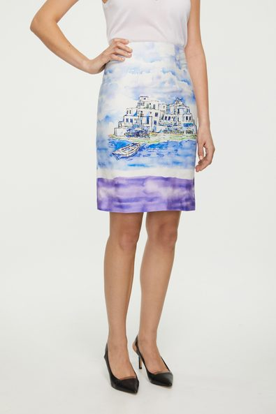 Seaside Villa print skirt