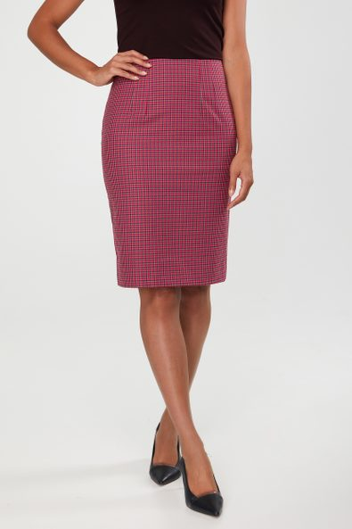 Colourful houndstooth skirt
