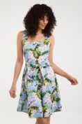 Fit & flare floral printed dress