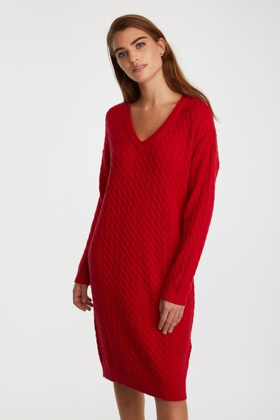 Cable-knit dress